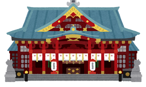 大漁を祈願するイカ招き神社